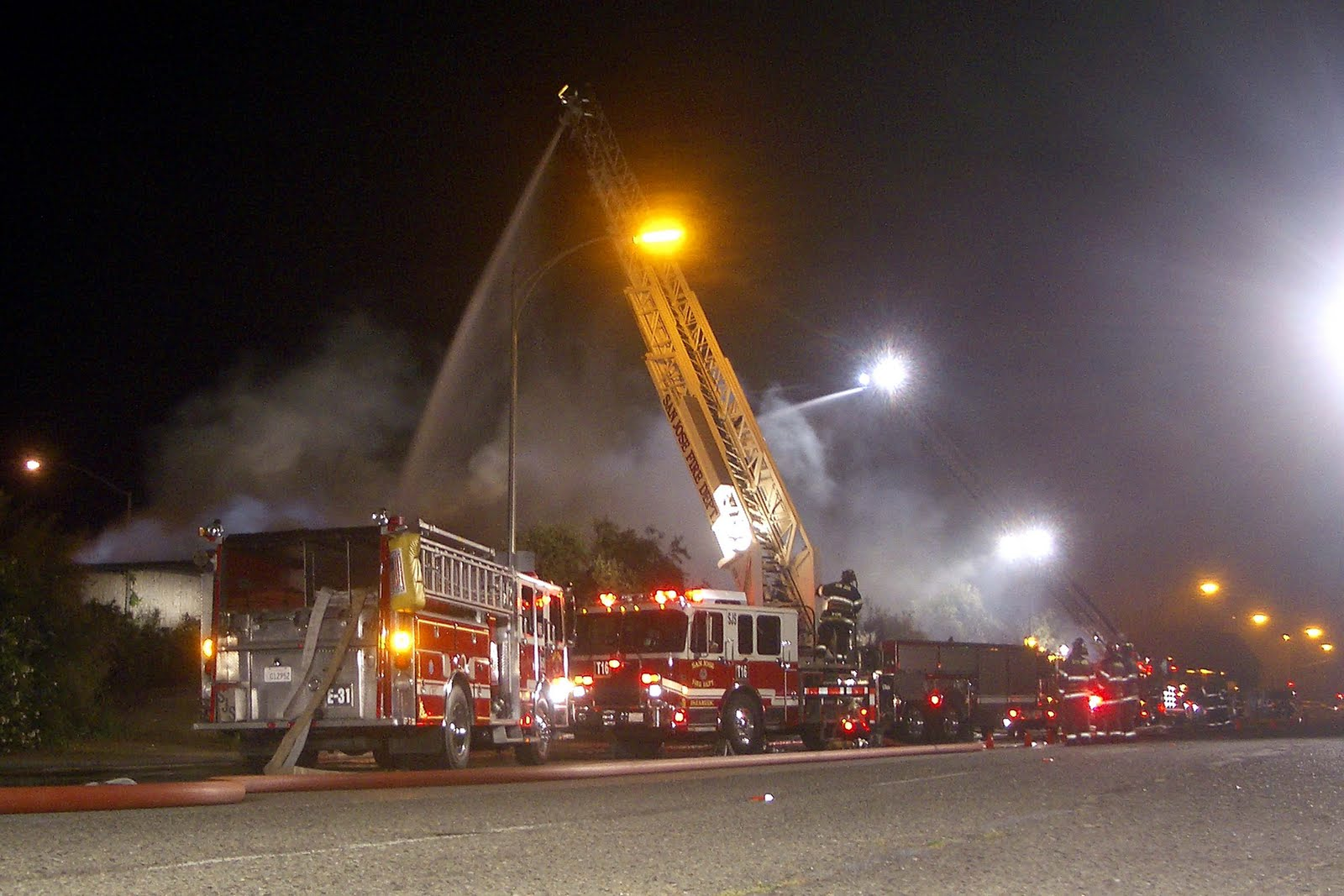 Self Storage Fire in Santa Clara Valley